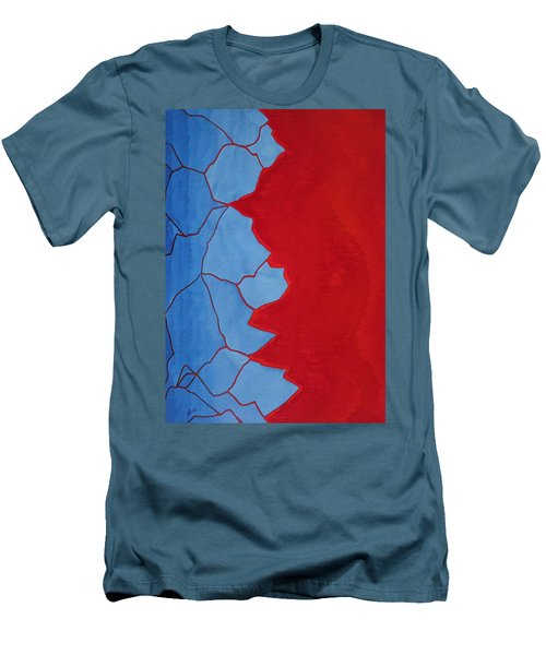 Glitch In The Matrix Original Painting Men's T-Shirt (Athletic Fit)