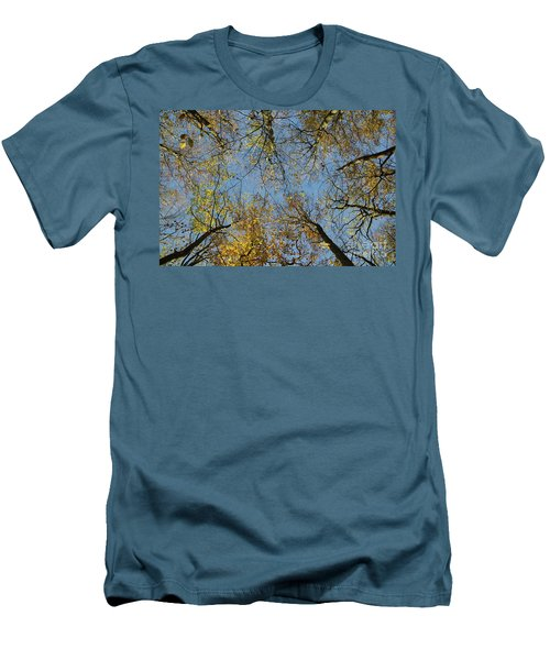 Men's T-Shirt (Athletic Fit) featuring the photograph Glorious Tree Tops by Kennerth and Birgitta Kullman