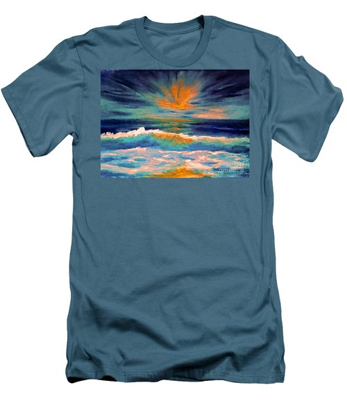 Glow Men's T-Shirt (Slim Fit) by Holly Martinson