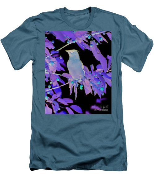 Glowing Cedar Waxwing Men's T-Shirt (Slim Fit) by Smilin Eyes  Treasures