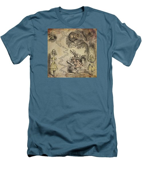 Go Ask Alice Men's T-Shirt (Slim Fit) by Diana Boyd