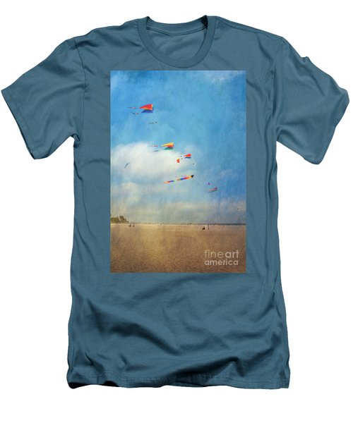 Men's T-Shirt (Slim Fit) featuring the photograph Go Fly A Kite by David Zanzinger