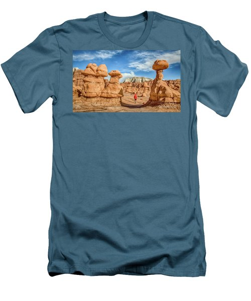 Goblin Valley State Park Men's T-Shirt (Slim Fit) by JR Photography