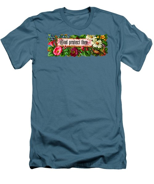 God Protect Thee Vintage Men's T-Shirt (Slim Fit) by R Muirhead Art