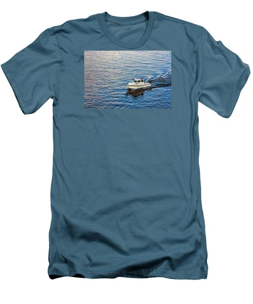Going Fishing Men's T-Shirt (Slim Fit) by Lewis Mann