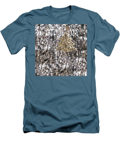 Men's T-Shirt (Slim Fit) featuring the photograph Gold Christmas Tree by Ulrich Schade