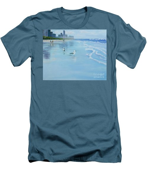 Gold Coast Australia, Men's T-Shirt (Slim Fit) by Genevieve Brown