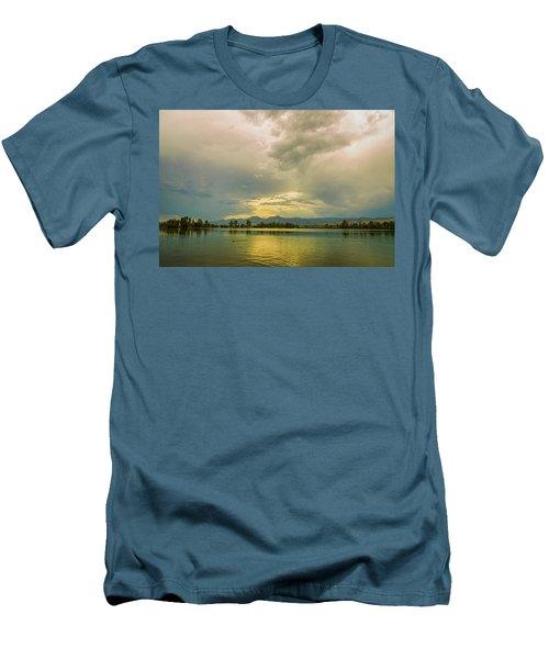 Men's T-Shirt (Athletic Fit) featuring the photograph Golden Afternoon by James BO Insogna