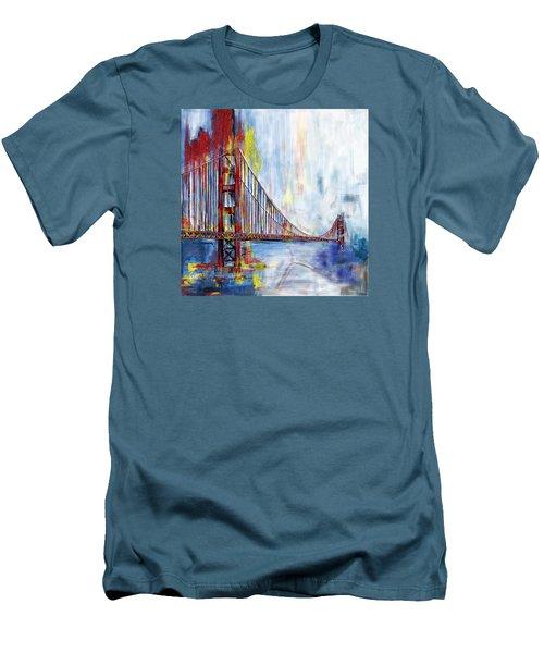 Golden Gate Bridge 218 1  Men's T-Shirt (Slim Fit) by Mawra Tahreem