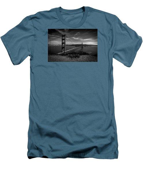 Golden Gate Bridge Locks Of Love Men's T-Shirt (Slim Fit) by Alpha Wanderlust