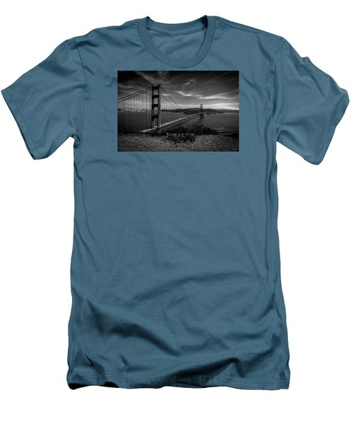 Golden Gate Bridge Locks Of Love Men's T-Shirt (Athletic Fit)