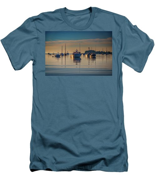 Men's T-Shirt (Athletic Fit) featuring the photograph Golden Morning In Tenants Harbor by Rick Berk