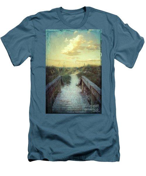 Golden Pathway Men's T-Shirt (Slim Fit) by Linda Olsen