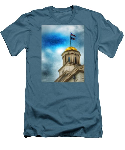 Men's T-Shirt (Slim Fit) featuring the photograph Golden Shine by Jame Hayes