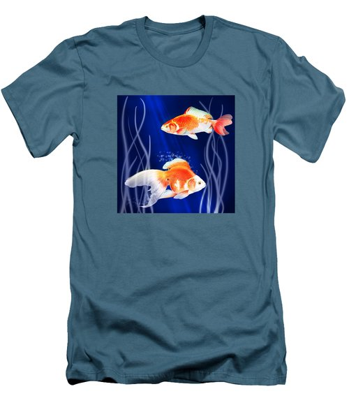 Goldfish Aglow Men's T-Shirt (Athletic Fit)
