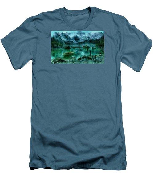 Gollum's Grotto Men's T-Shirt (Slim Fit) by Mario Carini
