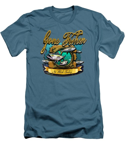 Gone Fishin No Work Today Men's T-Shirt (Athletic Fit)