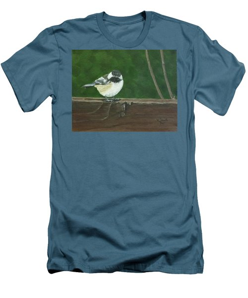 Men's T-Shirt (Slim Fit) featuring the painting Good Morning by Wendy Shoults