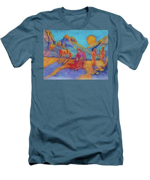Good Samaritan Parable Painting Bertram Poole Men's T-Shirt (Slim Fit) by Thomas Bertram POOLE