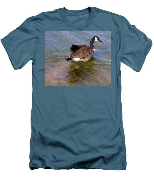 Goose Men's T-Shirt (Slim Fit) by John Lautermilch