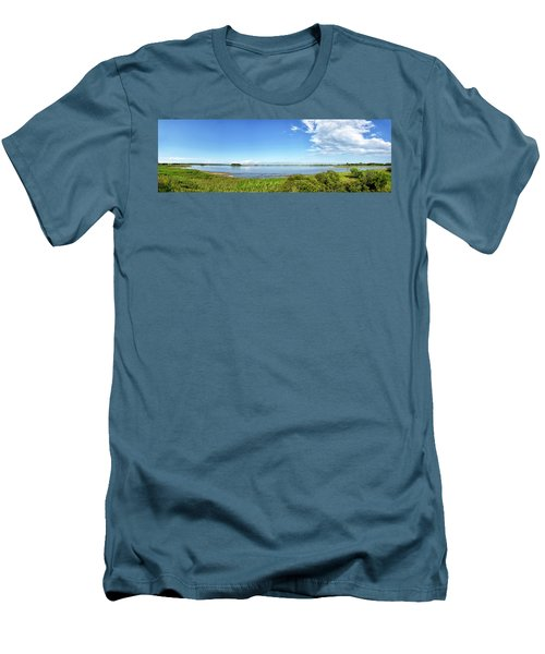Men's T-Shirt (Slim Fit) featuring the photograph Gordons Pond Panorama - Cape Henlopen State Park - Delaware by Brendan Reals