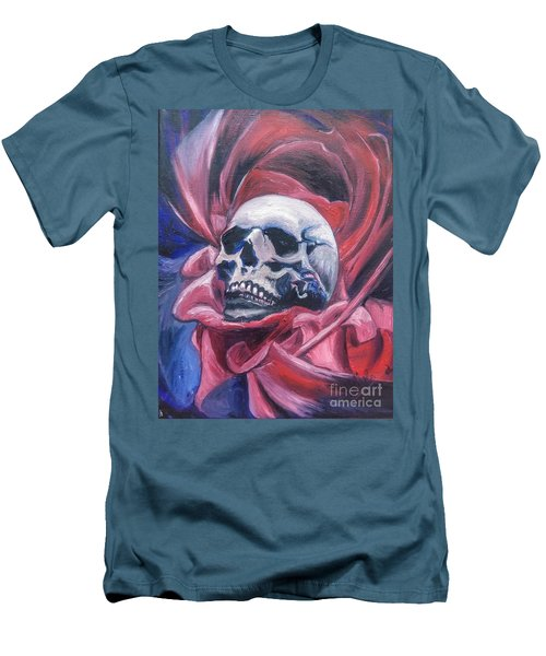Men's T-Shirt (Slim Fit) featuring the painting Gothic Romance by Isabella F Abbie Shores FRSA