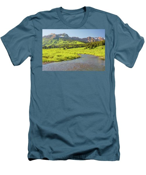 Gothic Valley - Early Evening Men's T-Shirt (Slim Fit) by Eric Glaser