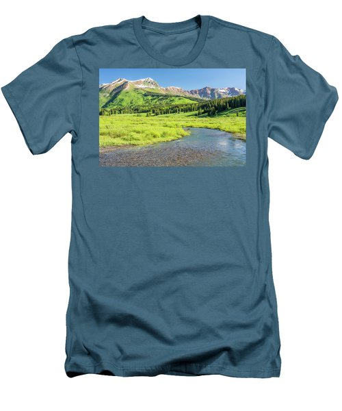 Men's T-Shirt (Slim Fit) featuring the photograph Gothic Valley - Morning by Eric Glaser