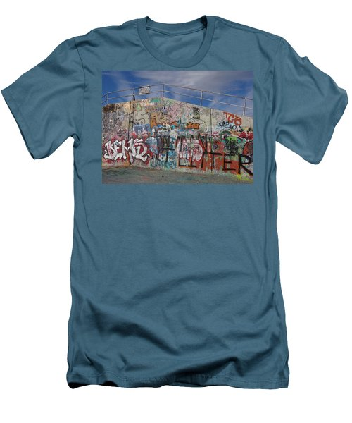 Graffiti Wall Men's T-Shirt (Slim Fit) by Julia Wilcox