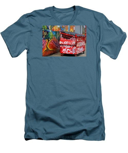 Men's T-Shirt (Slim Fit) featuring the photograph Grafitti And Trash by Ranjini Kandasamy