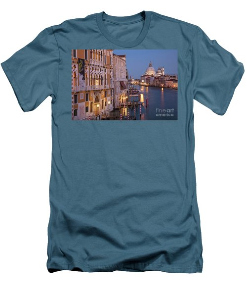 Men's T-Shirt (Slim Fit) featuring the photograph Grand Canal Twilight by Brian Jannsen