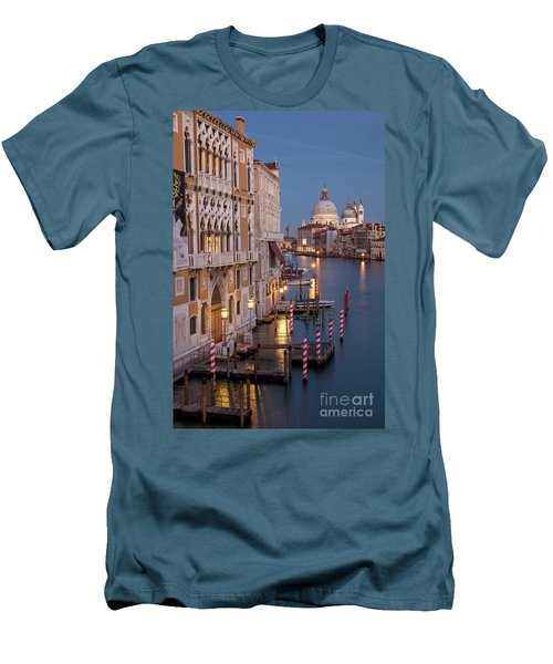 Men's T-Shirt (Slim Fit) featuring the photograph Grand Canal Twilight II by Brian Jannsen
