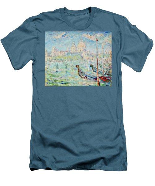 Grand Canal Venice Men's T-Shirt (Slim Fit) by Pierre Van Dijk