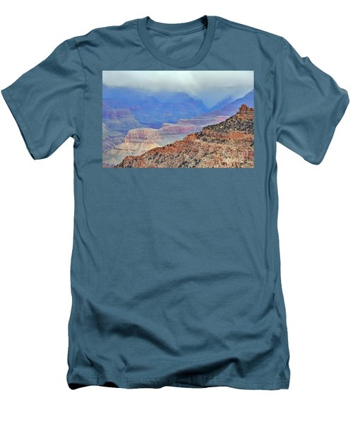 Grand Canyon Levels Men's T-Shirt (Slim Fit) by Debby Pueschel