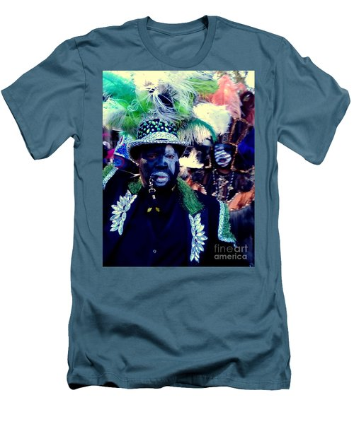 Grand Marshall Of The Zulu Parade Mardi Gras 2016 In New Orleans Men's T-Shirt (Athletic Fit)