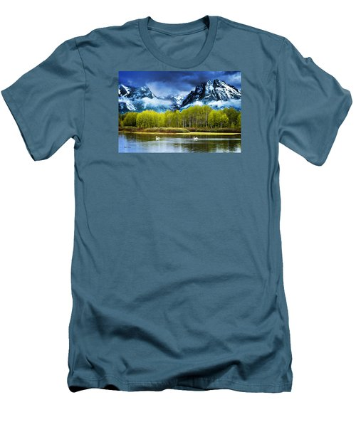 Grand Teton National Park Men's T-Shirt (Athletic Fit)