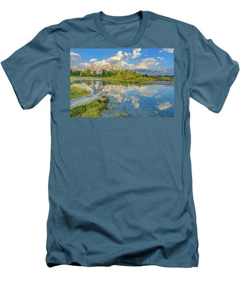 Grand Teton Riverside Morning Reflection Men's T-Shirt (Athletic Fit)