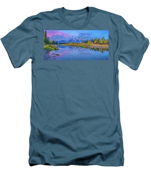 Grand Teton Sunrise Panoramic Men's T-Shirt (Athletic Fit)