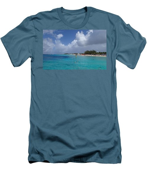 Grand Turk Beach Men's T-Shirt (Athletic Fit)