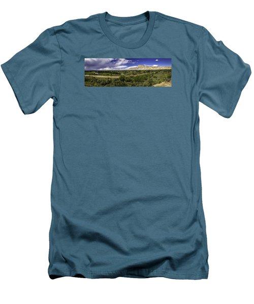 Grand Valley Panoramic Men's T-Shirt (Slim Fit) by Teri Virbickis