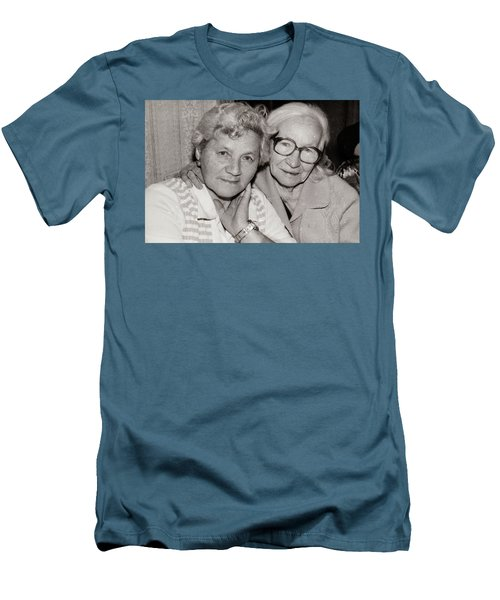 Grandmothers Men's T-Shirt (Slim Fit) by Vadim Levin