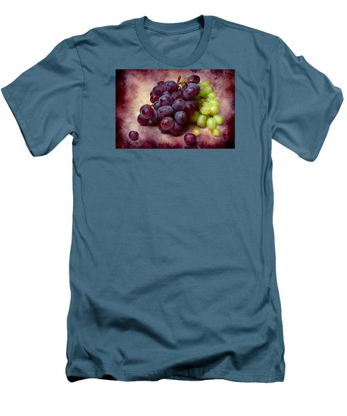 Men's T-Shirt (Slim Fit) featuring the photograph Grapes Red And Green by Alexander Senin