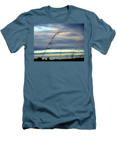 Grass Against Abstract Sky Men's T-Shirt (Athletic Fit)