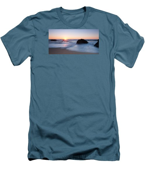 Gray Whale Cove State Beach 3 Men's T-Shirt (Slim Fit) by Catherine Lau