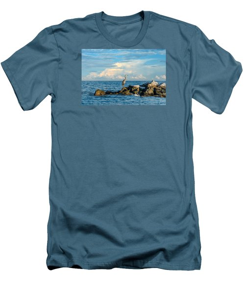 Great Blue Heron World Men's T-Shirt (Athletic Fit)