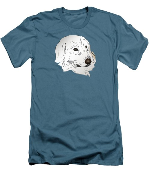 Great Pyrenees Dog Men's T-Shirt (Slim Fit) by MM Anderson