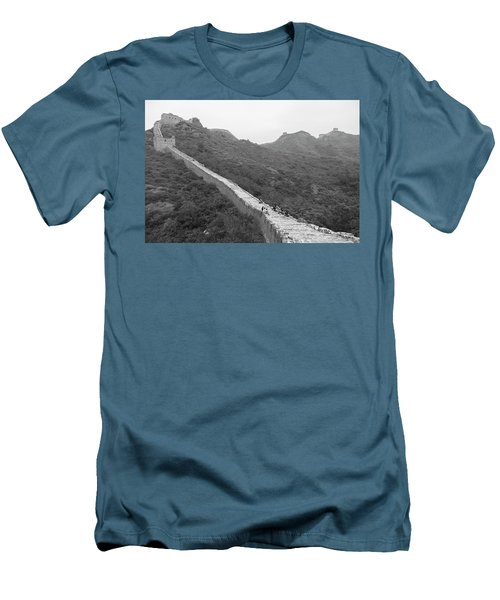 Men's T-Shirt (Slim Fit) featuring the photograph Great Wall 4, Jinshanling, 2016 by Hitendra SINKAR