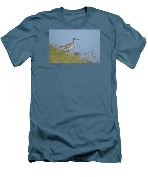 Men's T-Shirt (Slim Fit) featuring the photograph Greater Yellowlegs by Kathy Gibbons