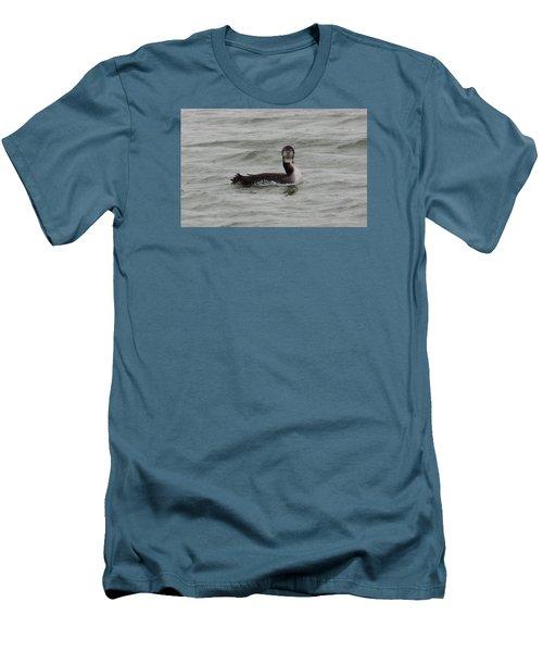 Grebe Looking At Me Men's T-Shirt (Slim Fit) by Karen Molenaar Terrell