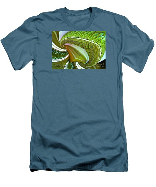 Men's T-Shirt (Slim Fit) featuring the digital art Green Diamonds by Melissa Messick